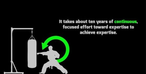 Ten years to become expert in martial arts, AZ
